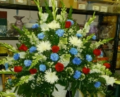 Red, White & Blue Tribute in Frankfort IL, The Flower Cottage