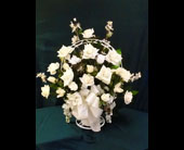 Silk Funeral Basket - Small in Pensacola FL, R & S Crafts & Florist