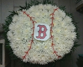 Baseball Funeral Arrangement in Wethersfield, Connecticut, Gordon Bonetti Florist