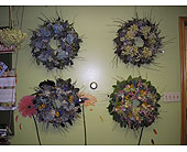 Dried Wreaths with Mixed Colors