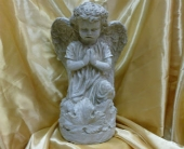Girl Angel Statue in Frankfort IL, The Flower Cottage