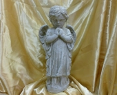 Boy Angel Statue in Frankfort IL, The Flower Cottage