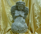 Large Angel Statue in Frankfort IL, The Flower Cottage