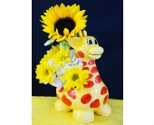Giraffe for New Baby in Cocoa FL, A Basket Of Love Florist