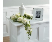White Floral Garland in Aston PA, Wise Originals Florists & Gifts