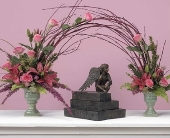 Pink Rose and Lily Memorial Arch in Aston PA, Wise Originals Florists & Gifts