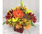 FALL CUBE by Rubrums in Ossining NY, Rubrums Florist Ltd.