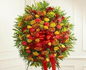 1 800 Flowers- Standing Spray in Fall Colors in Woodbridge VA, Lake Ridge Florist