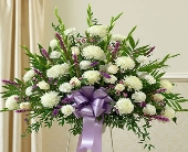 1 800 Flowers- Heartfelt Sympathy Basket-Lavender in Woodbridge VA, Lake Ridge Florist