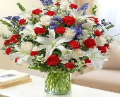1 800 Flowers- Red, White and Blue in Woodbridge VA, Lake Ridge Florist