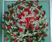 red rose stand spray in Waipahu, Hawaii, Waipahu Florist