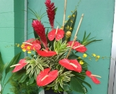 tropical arrangement in Waipahu HI, Waipahu Florist