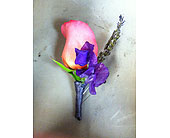 Rose and Delphiniums Bout in Pleasanton, California, Bloomies On Main LLC