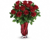 Teleflora's Red Radiance Bouquet in Watertown NY, Sherwood Florist