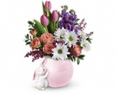 Teleflora's Send a Hug Bunny Love Bouquet in Burlington WI, gia bella Flowers and Gifts