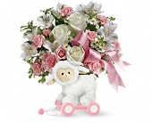 Teleflora's Sweet Little Lamb - Baby Pink in Burlington WI, gia bella Flowers and Gifts