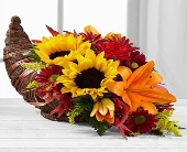 Fall Harvest Cornucopia in Smyrna GA, Floral Creations Florist