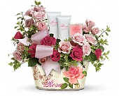 Teleflora's Everything Rosy Gift Bouquet in Ruston LA, 2 Crazy Girls