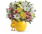 Teleflora's Sweet Peep Bouquet - Baby Pink in Rush NY, Chase's Greenhouse