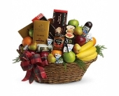 Holiday Elegance Gourmet Basket in Seattle WA, Topper's European Floral Design