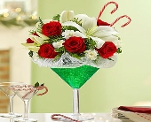 1 800- Martini Bouquet-Peppermint in Woodbridge VA, Lake Ridge Florist