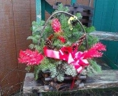 Winter Basket - Facing in Lewiston ME, Roak The Florist