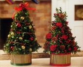 Utica Flowers - Holiday Boxwood Tree - Chester's Flower Shop & Greenhouses