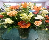 Orange cream-cicle in Pinehurst NC, Christy's Flower Stall