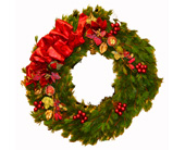 Classic Christmas Wreath in Seattle WA, Topper's European Floral Design