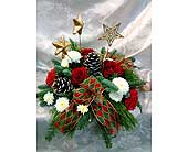 Starry Christmas Centerpiece in Lake Forest CA, Cheers Floral Creations