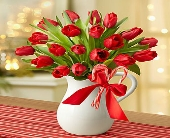 1800 Peppermint Pitcher of Tulips in Woodbridge VA, Lake Ridge Florist