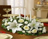 -All in White Centerpiece in Woodbridge VA, Lake Ridge Florist