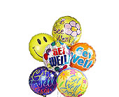 6 Get Well Soon Mylar Balloons in Jersey City NJ, Hudson Florist