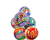 6 Happy Birthday Mylar Balloons in Jersey City NJ, Hudson Florist