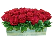 Roses (Rectangular Handmade Wood Box) in New York NY, A University Floral Design