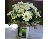Candles and Daises in Chattanooga, Tennessee, Chattanooga Florist 877-698-3303