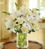 Classic All-White Arrangement in Camp Hill and Harrisburg, Pennsylvania, Pealer's Flowers