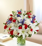 Sincerest Sorrow-Red,White & Blue in Camp Hill and Harrisburg, Pennsylvania, Pealer's Flowers