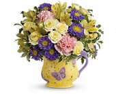 Teleflora's Sunbeams And Butterflies Bouquet
