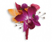 Dance 'til Dawn Boutonniere in Clinton AR, Main Street Florist & Gifts