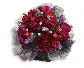 Red Carpet Romance Corsage in London ON, Lovebird Flowers Inc