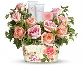 Teleflora's Rosy Delights Gift Bouquet in Burlington WI, gia bella Flowers and Gifts