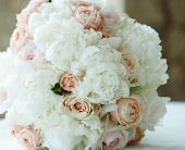 cream & blush bridal in Midwest City, Oklahoma, Penny and Irene's Flowers & Gifts