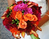Jewel Toned Bouquet in Seattle WA, Topper's European Floral Design