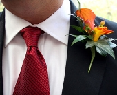Bronze Calla Boutonniere in Seattle WA, Topper's European Floral Design