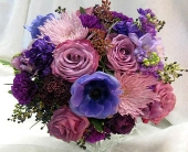 Purple bridal Bouguet in Kennewick WA, Heritage Home Accents & Floral