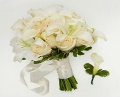 Ivory Inspirations Bride Bouquet & Groom Boutonnie in Arizona, AZ, Fresh Bloomers Flowers & Gifts, Inc
