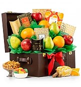 Fresh Fruit and Gourmet Keepsake Chest - by GiftTree Flowers