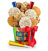 Happy Birthday Cookie Pail - by GiftTree Flowers