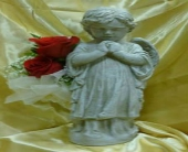Boy Angel With Flowers in Frankfort, Illinois, The Flower Cottage